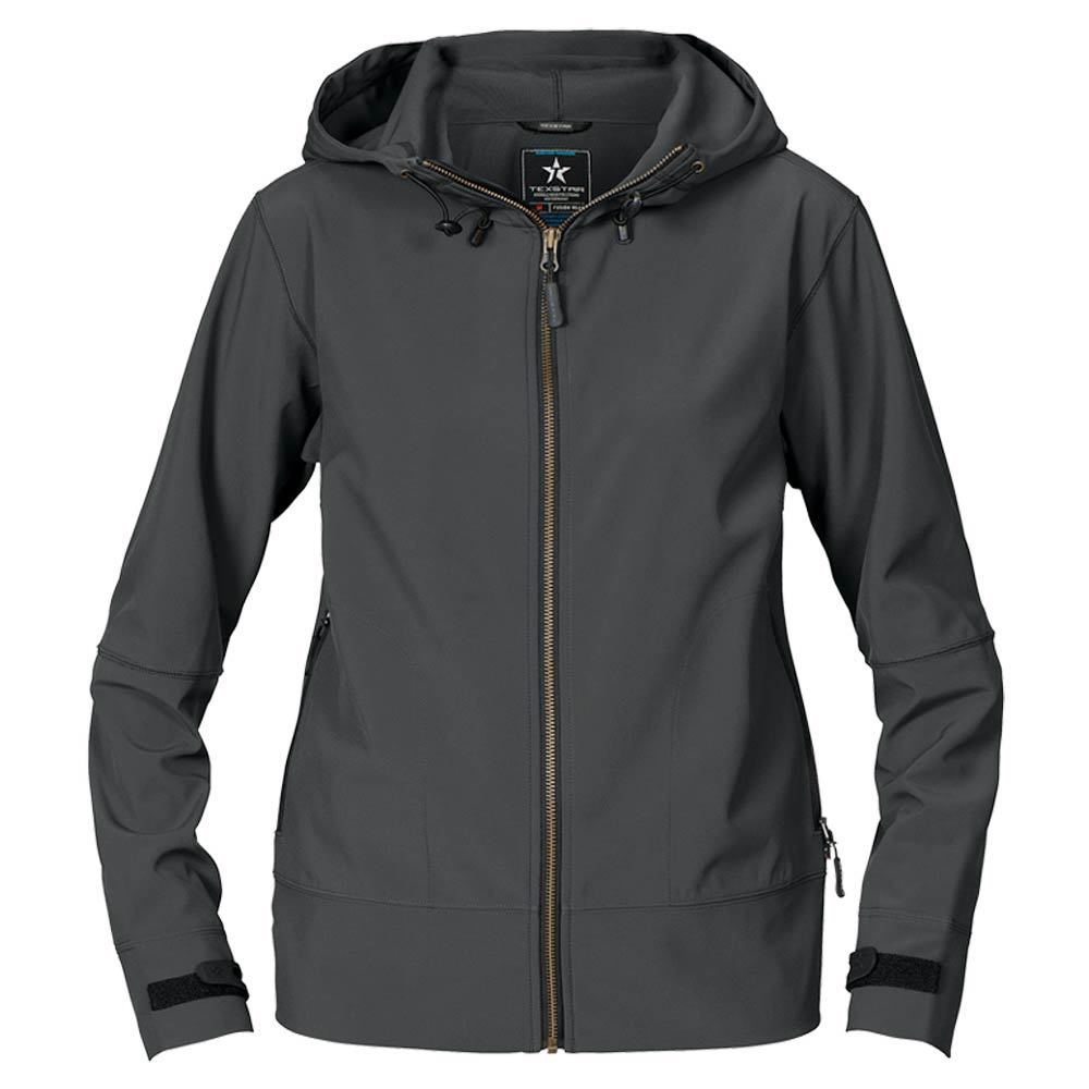 Womens Hood Softshell Anthracite Grey