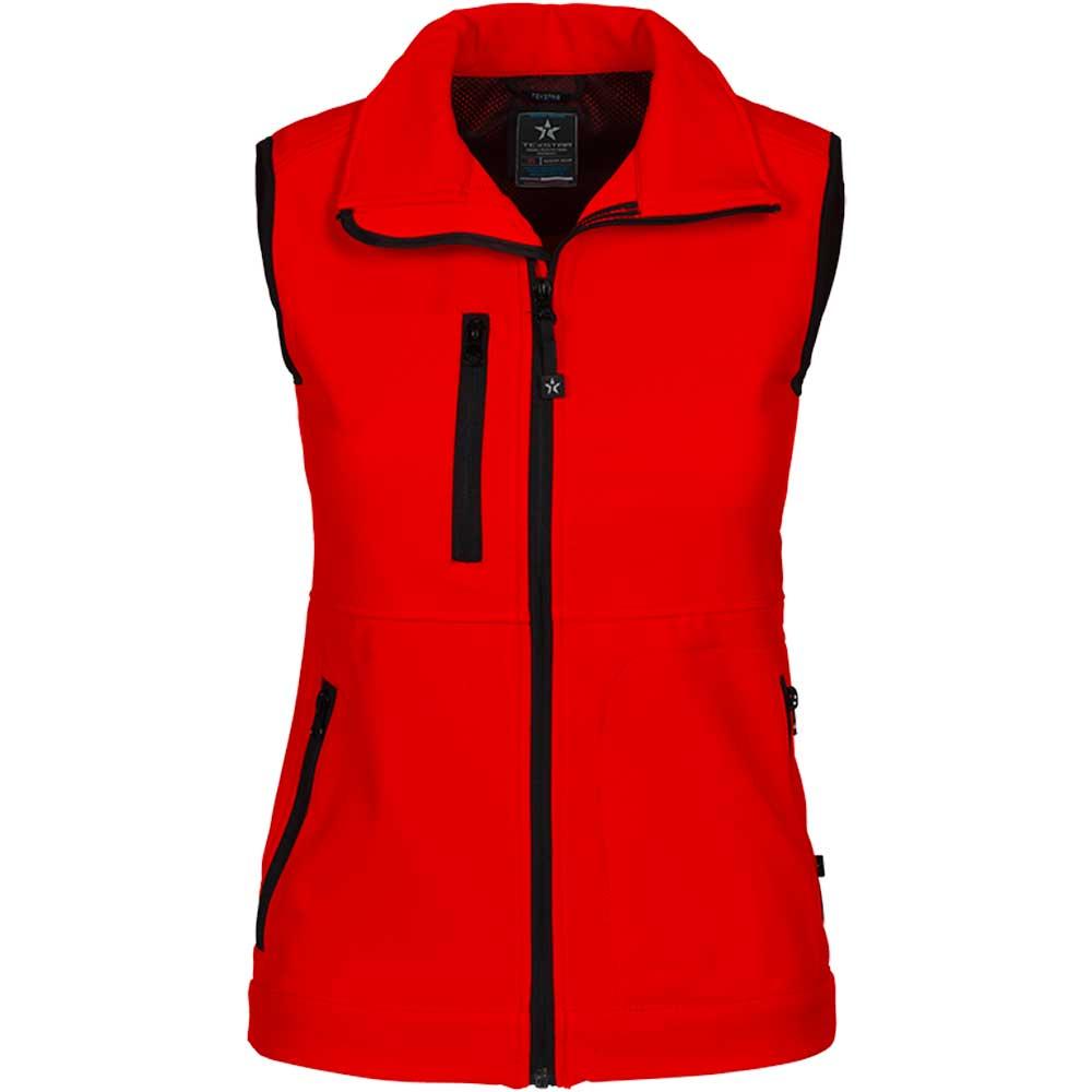 Women's Softshell Vest röd
