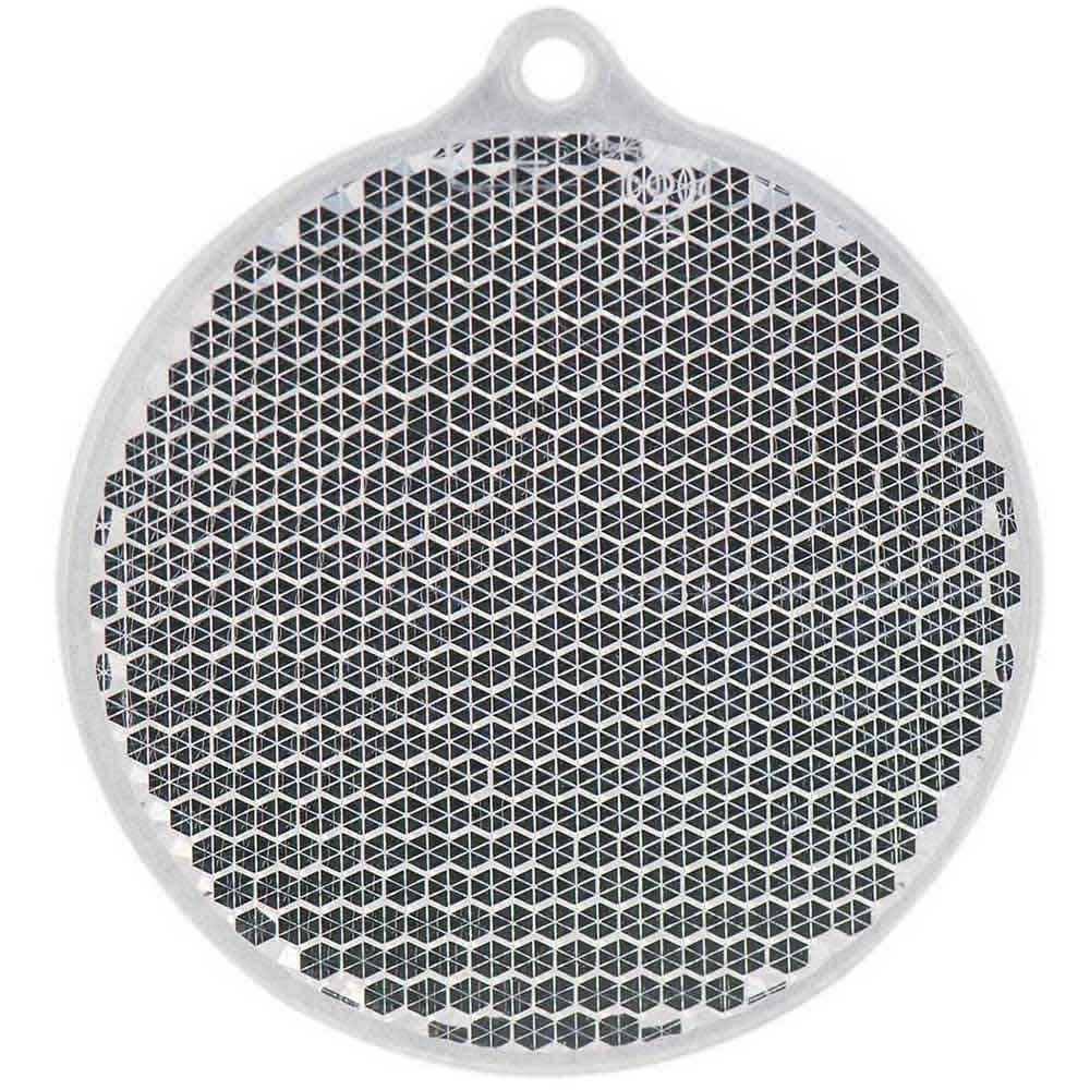 Reflexbricka rund glasklar