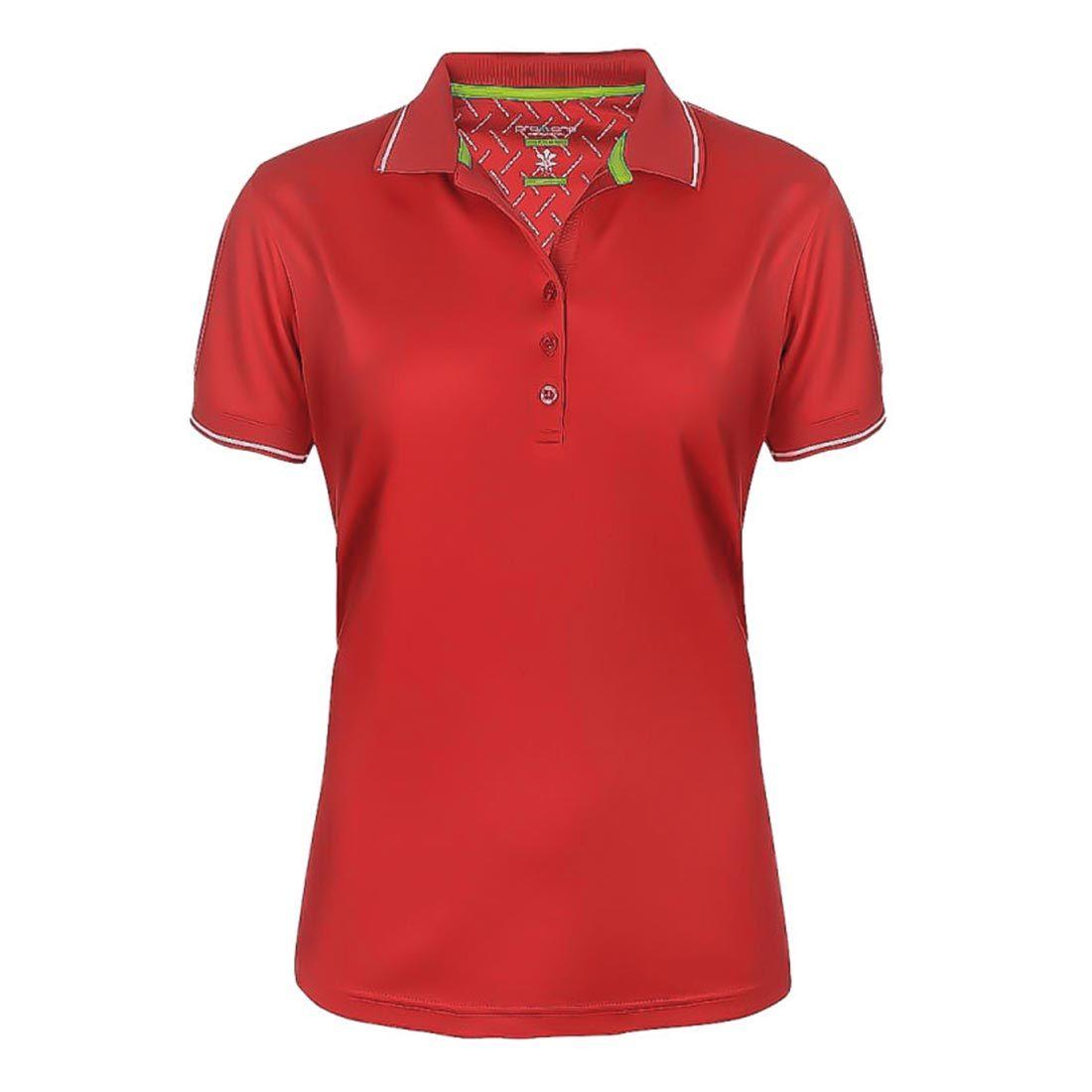 Dam Golfer Pique Röd
