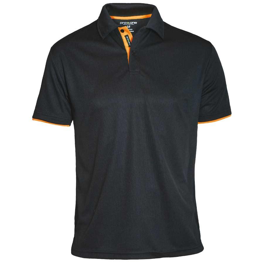 Herr Bowler Pique svart/orange