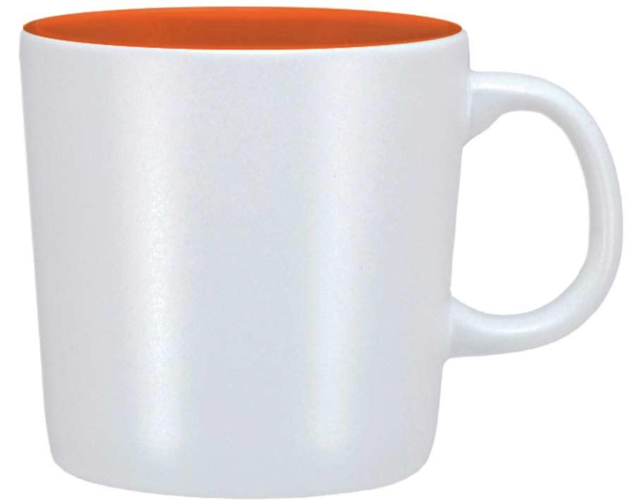 Mugg Emma vit/orange