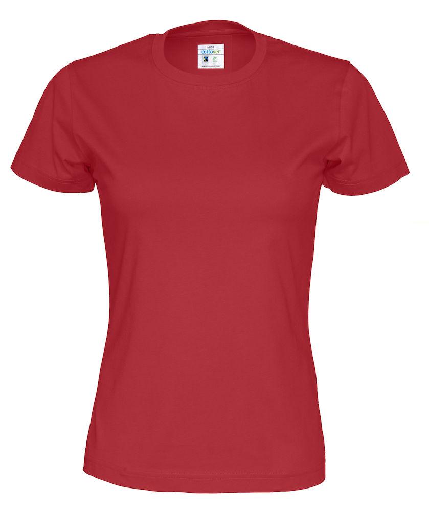 T-Shirt Cottover Lady röd