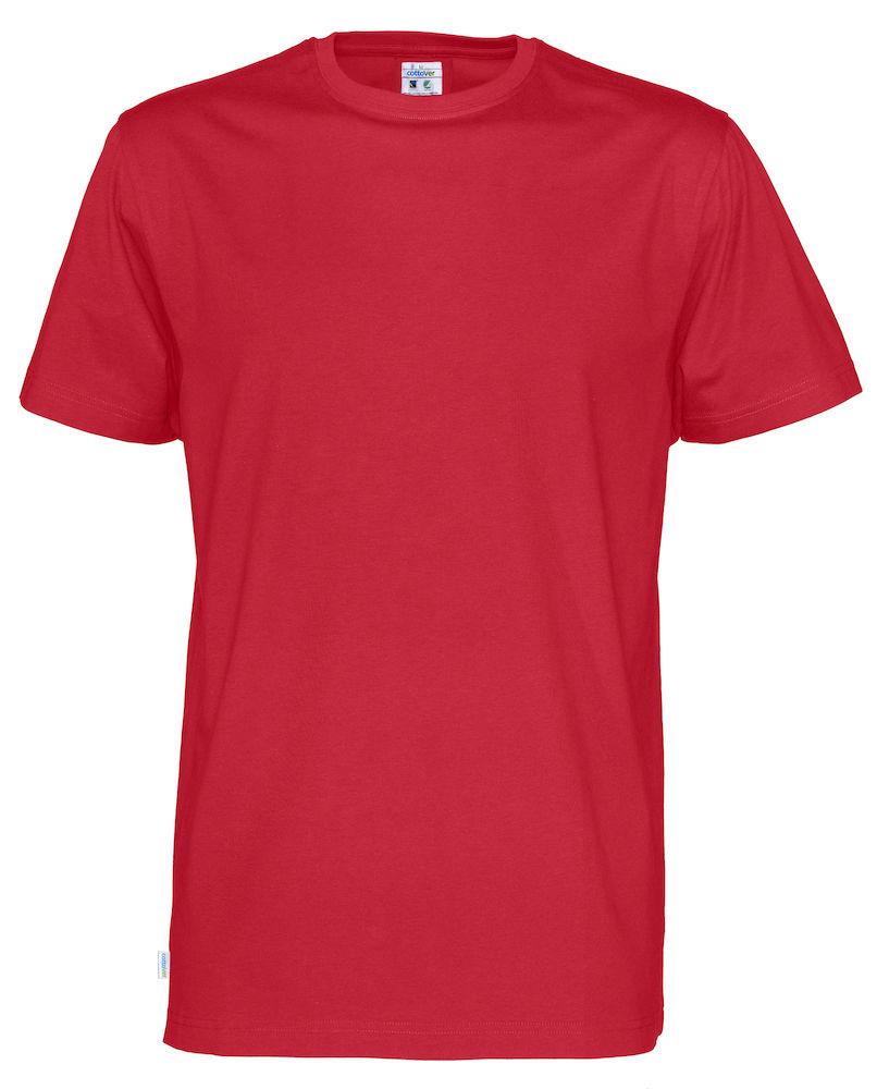 T-Shirt Cottover Man röd