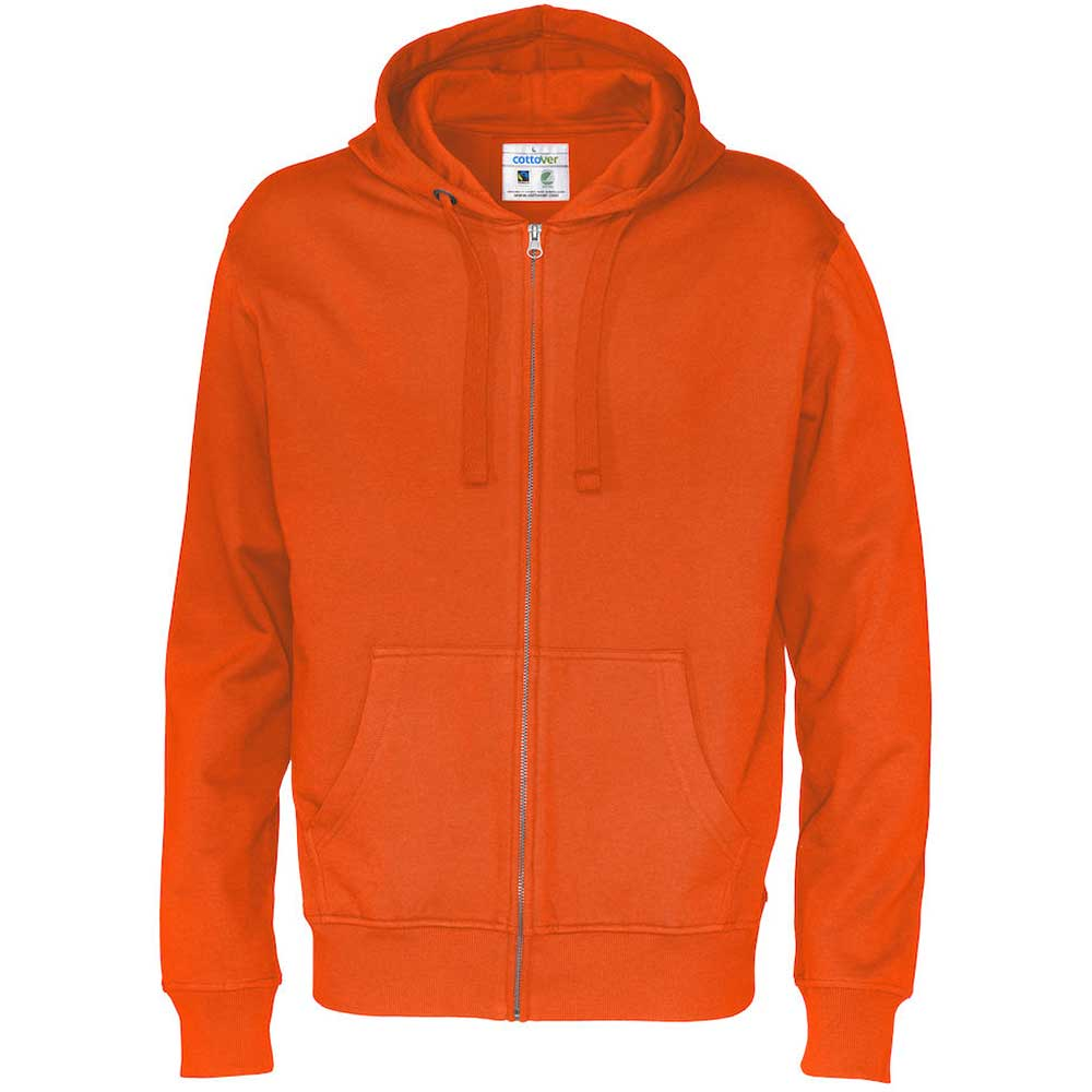 Full Zip Hood Man Orange