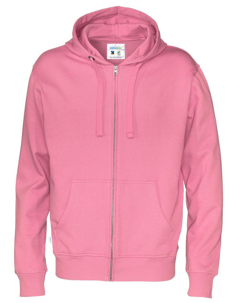 Full Zip Hood Man rosa
