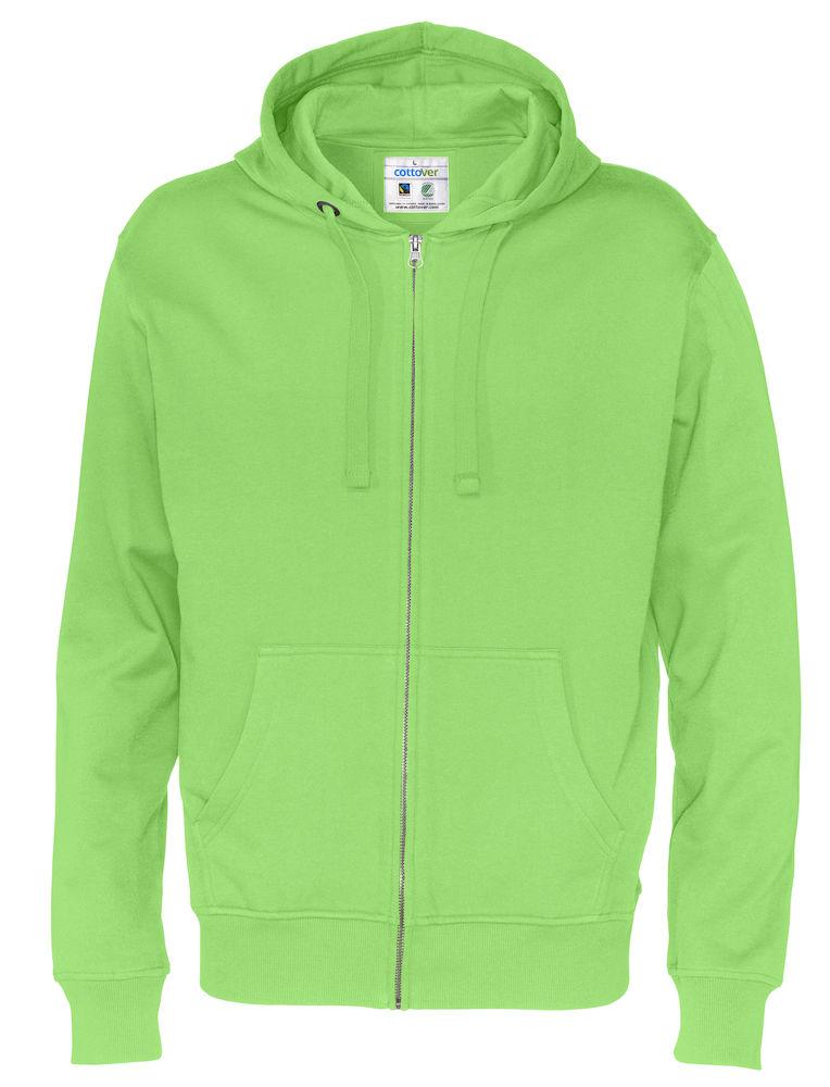 Full Zip Hood Man grön