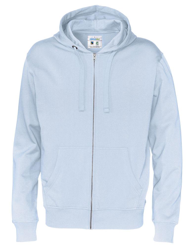 Full Zip Hood Man Sky blue