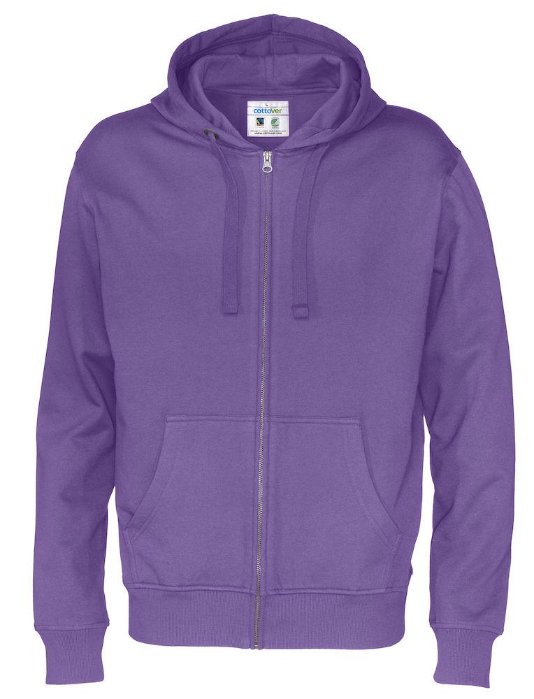 Full Zip Hood Man Purple