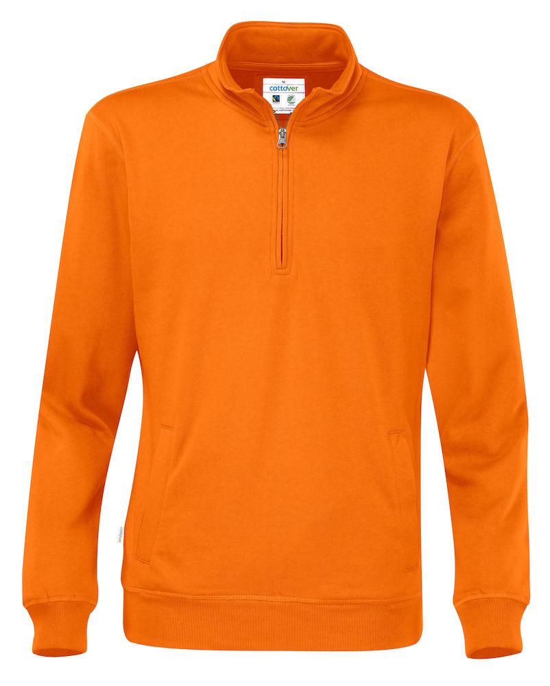 Half Zip Unisex Orange