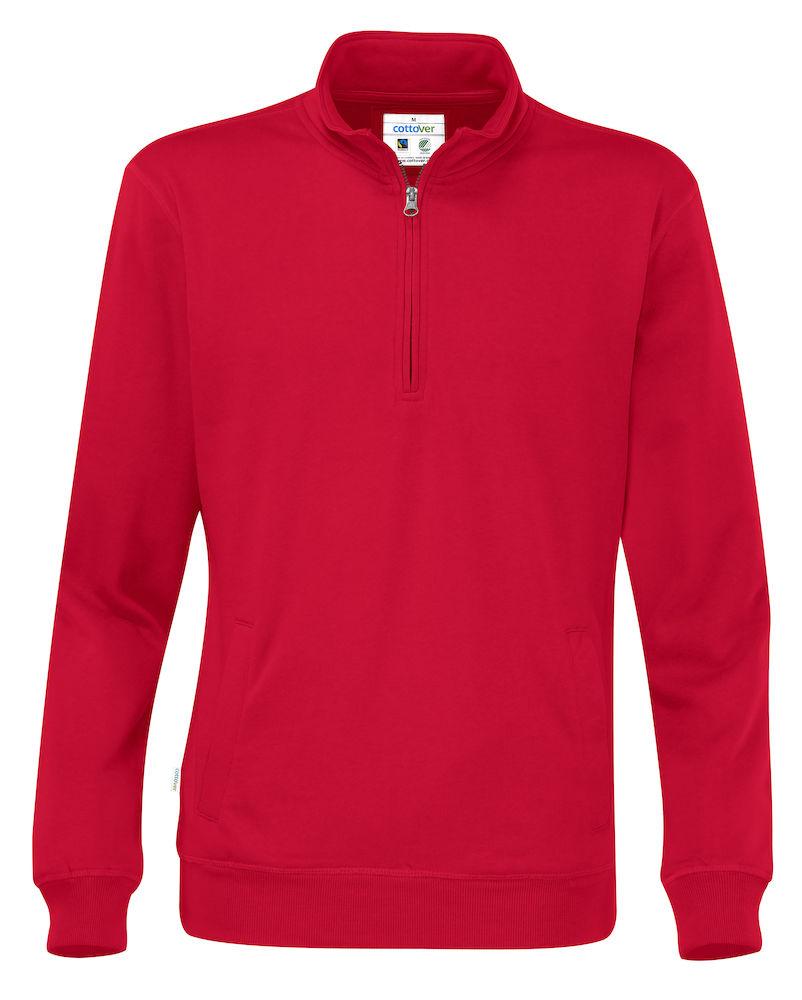 Half Zip Unisex röd