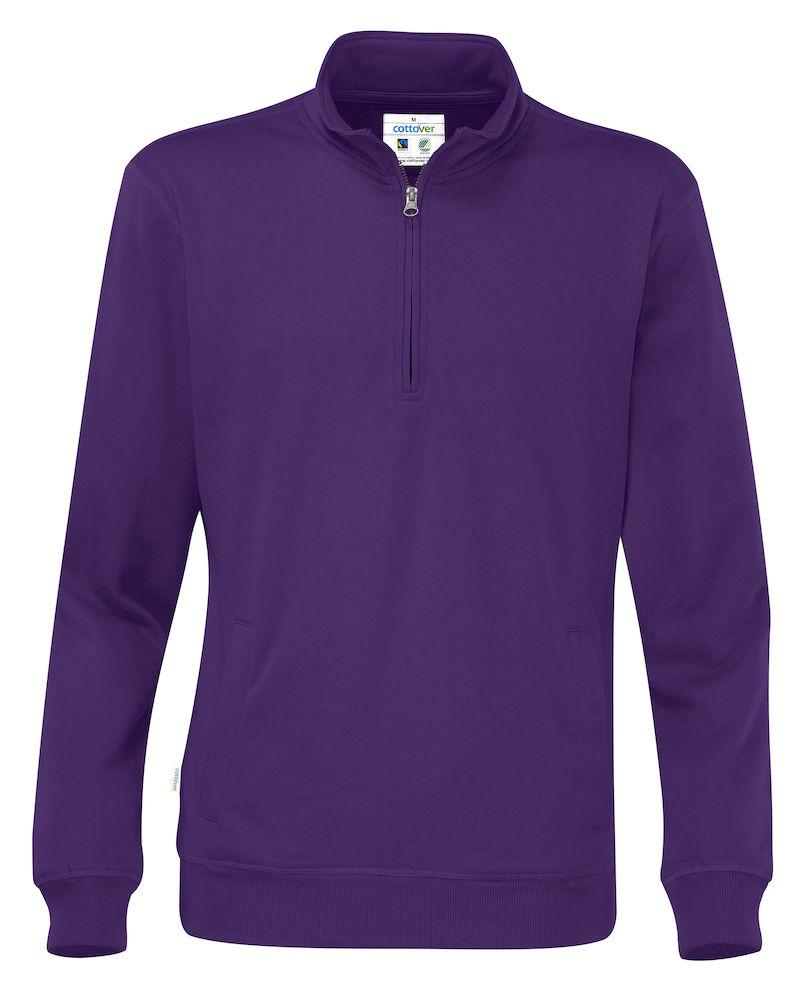 Half Zip Unisex Purple