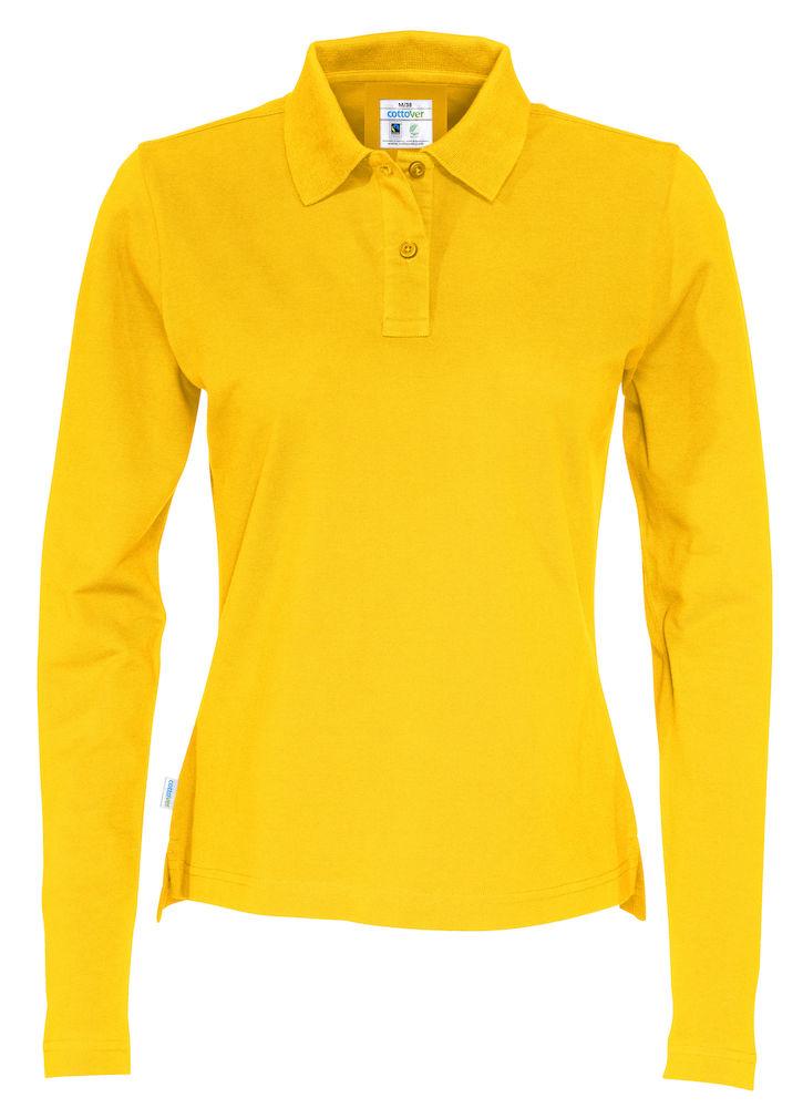 Piquet Long Sleeve Lady Yellow