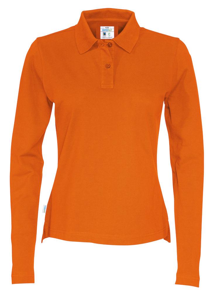 Piquet Long Sleeve Lady Orange