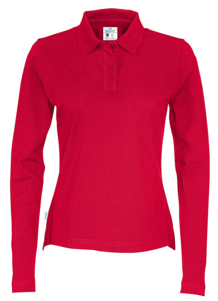 Piquet Long Sleeve Lady röd