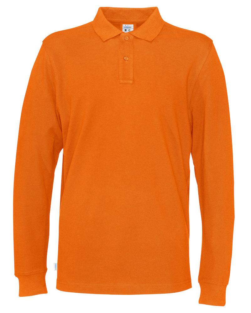 Piquet Long Sleeve Man Orange