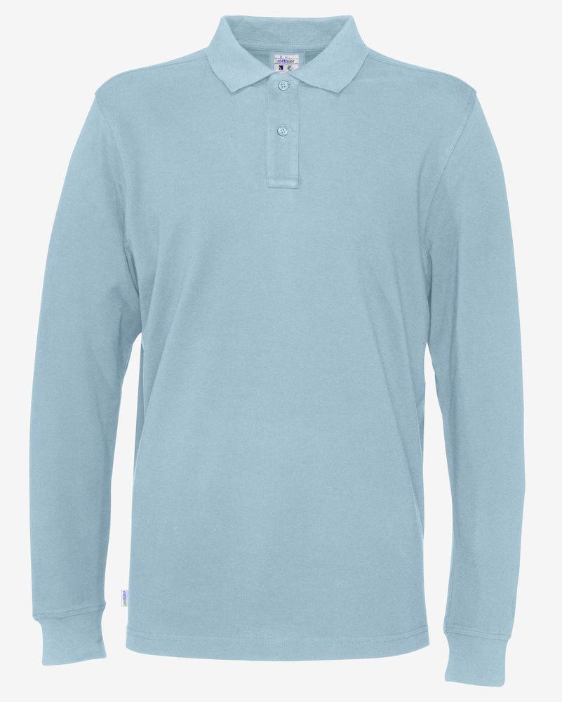 Piquet Long Sleeve Man Sky blue