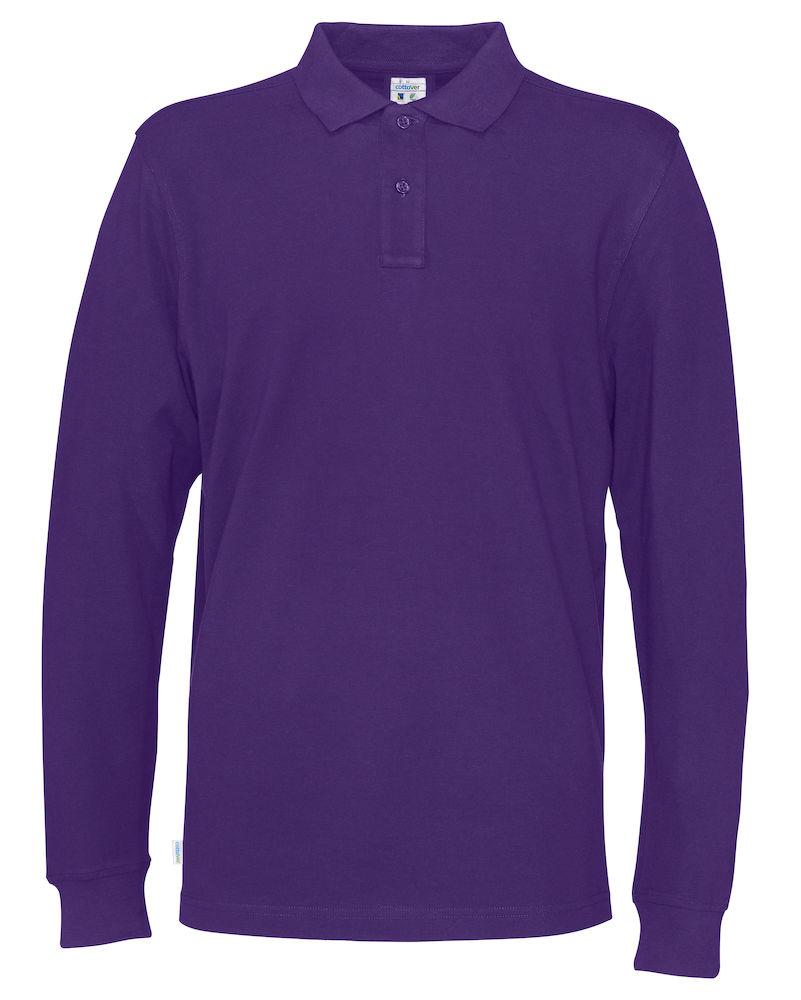 Piquet Long Sleeve Man Purple
