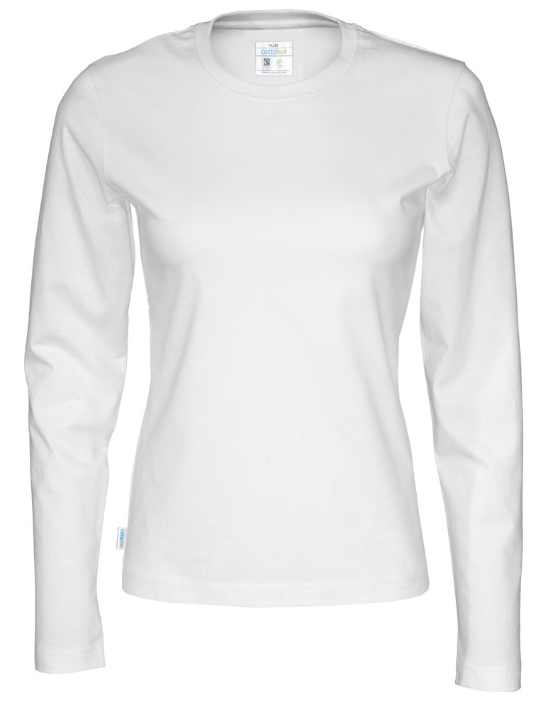 T-shirt Lady L/S vit