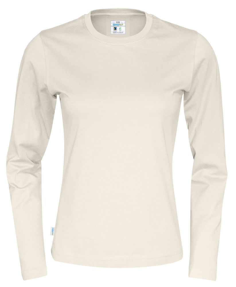 T-shirt Lady L/S Offwhite