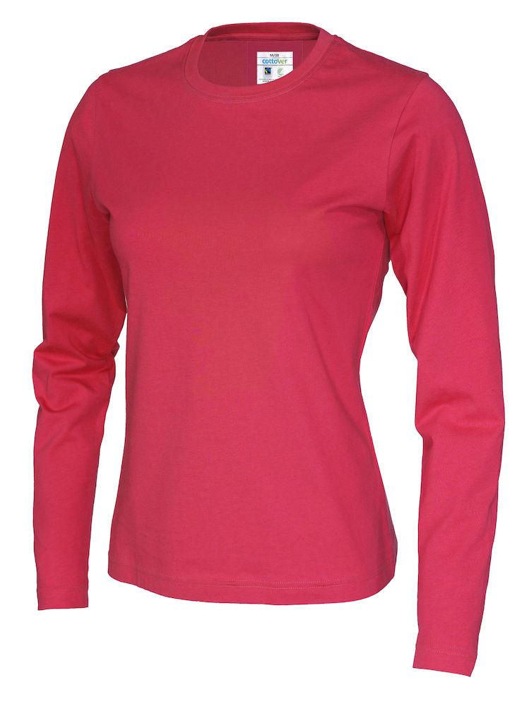 T-shirt Lady L/S röd