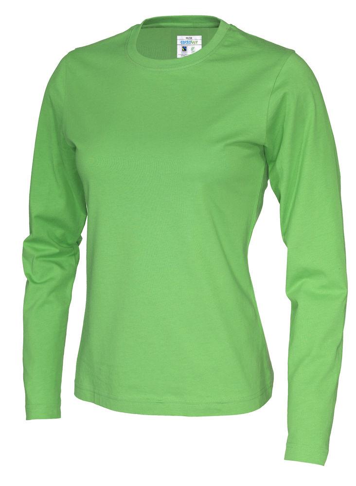 T-shirt Lady L/S grön
