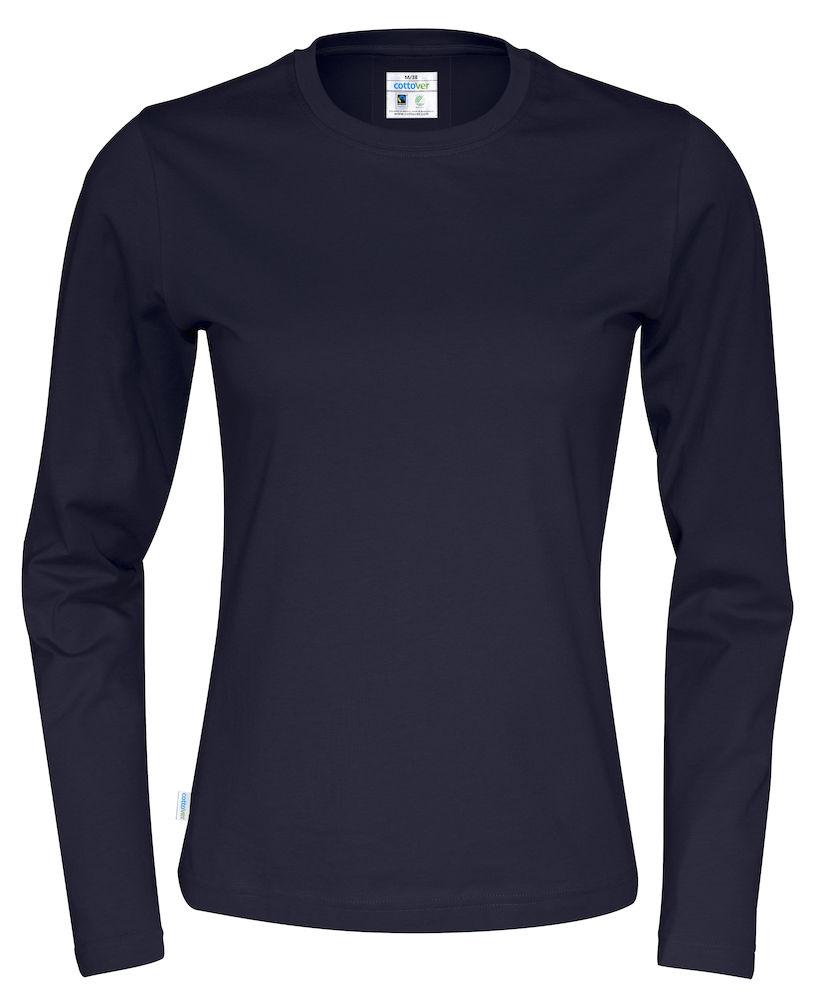 T-shirt Lady L/S marin