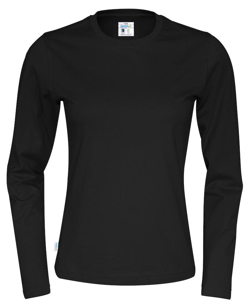 T-shirt Lady L/S svart
