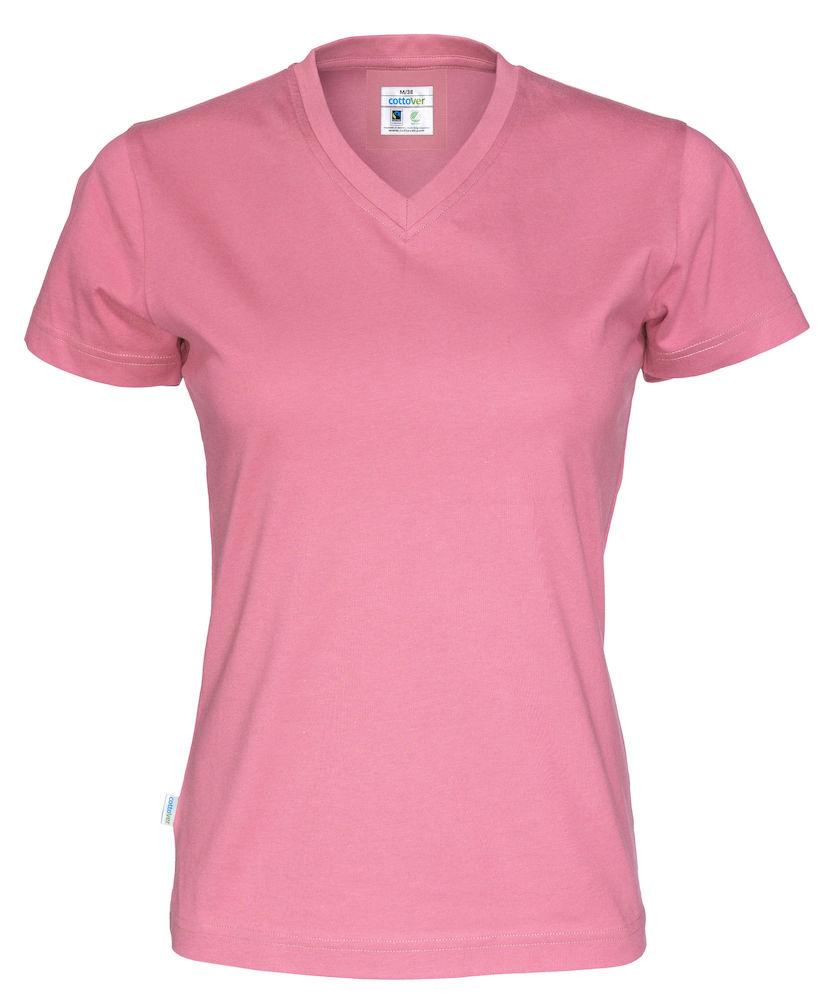 T-Shirt V-Neck Lady Rosa