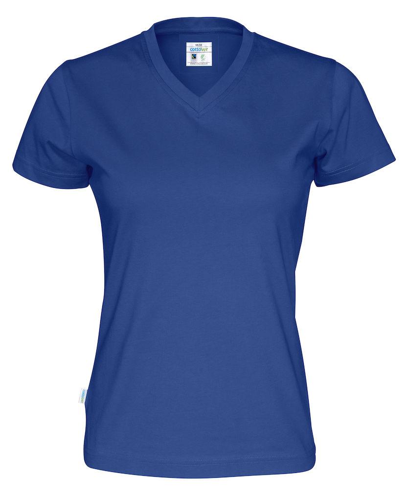 T-Shirt V-Neck Lady Royal