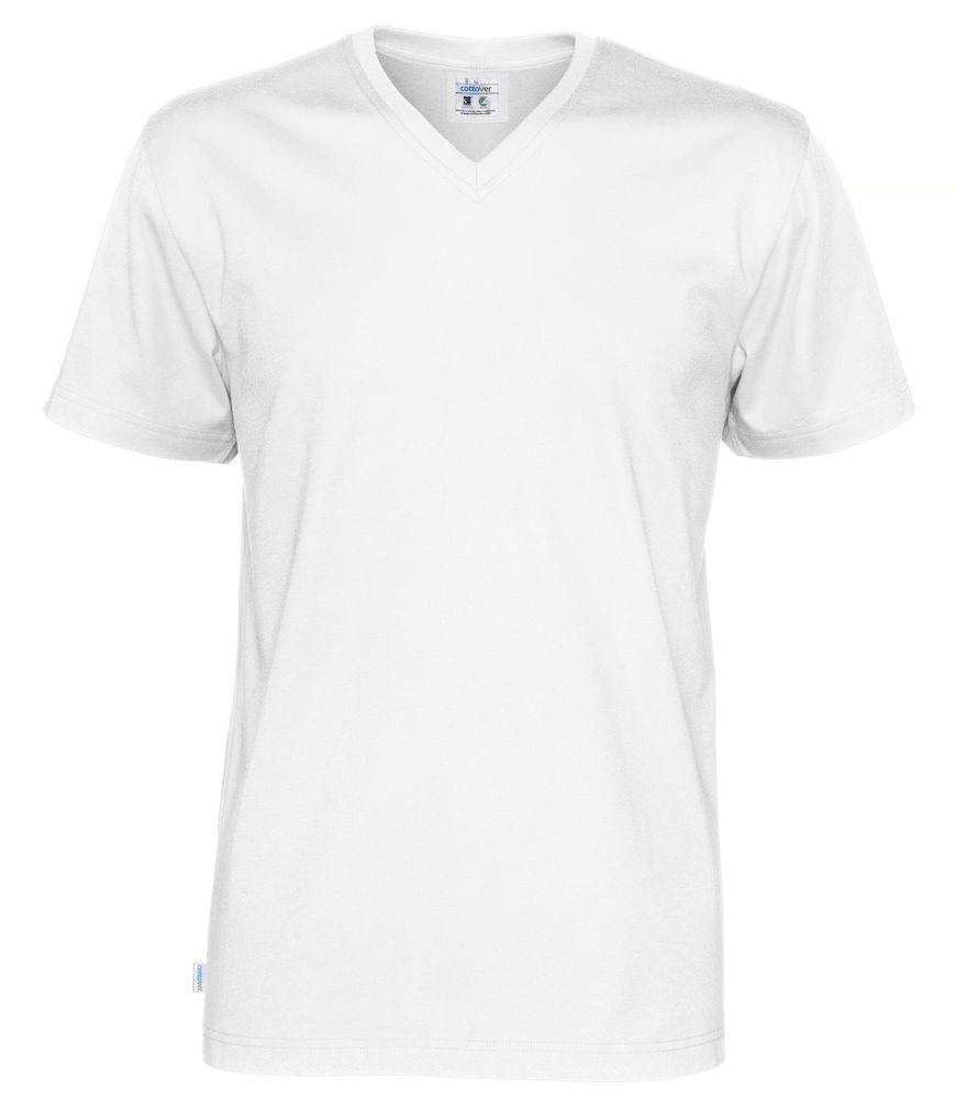 T-Shirt V-Neck Man vit