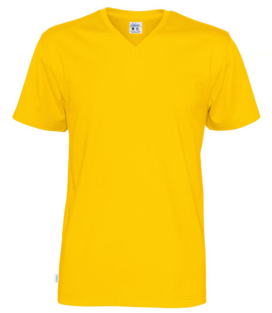 T-Shirt V-Neck Man Yellow