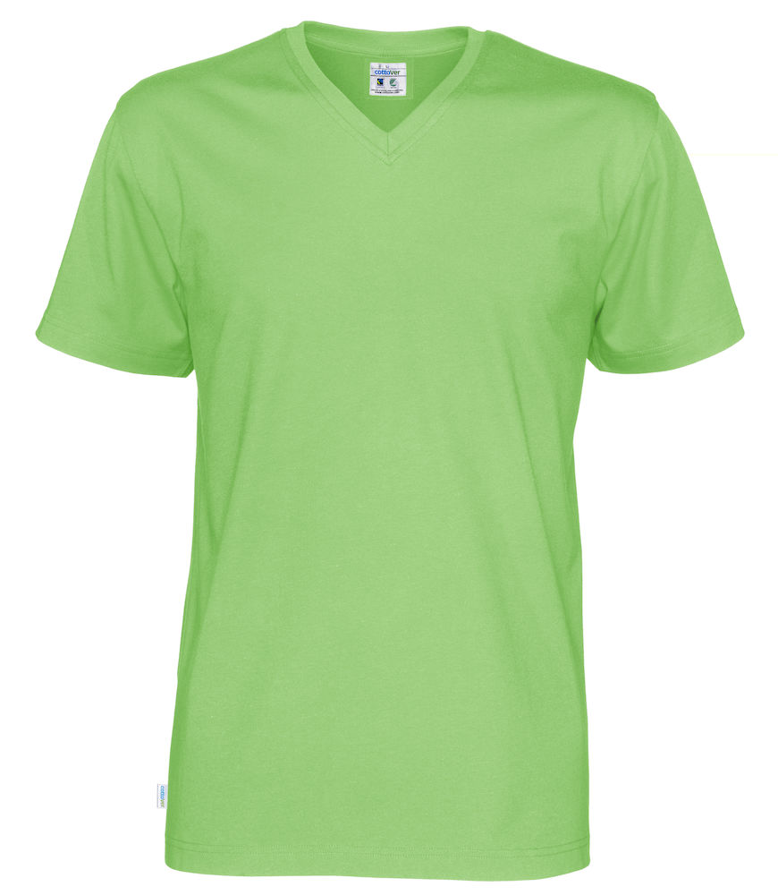 T-Shirt V-Neck Man grön