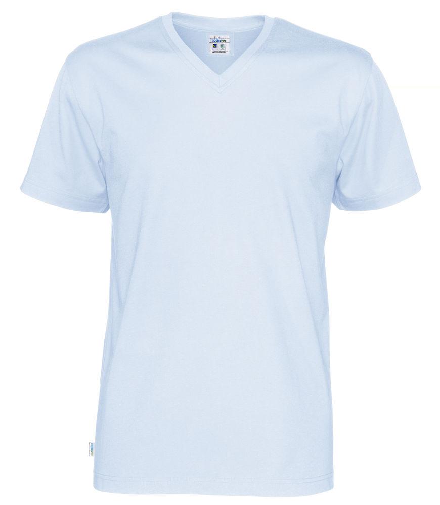 T-Shirt V-Neck Man Sky blue