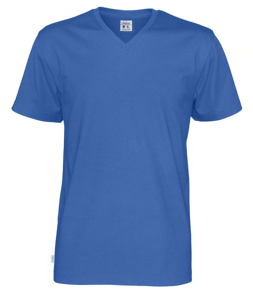 T-Shirt V-Neck Man Royal