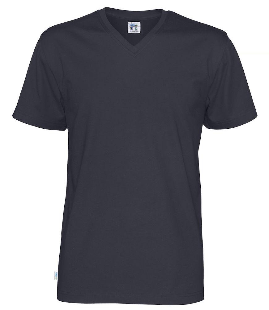 T-Shirt V-Neck Man marin