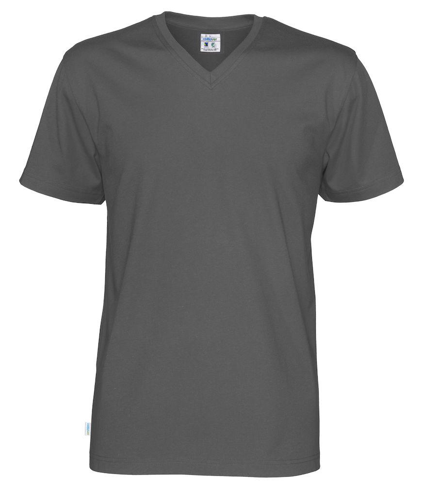 T-Shirt V-Neck Man Charcoal