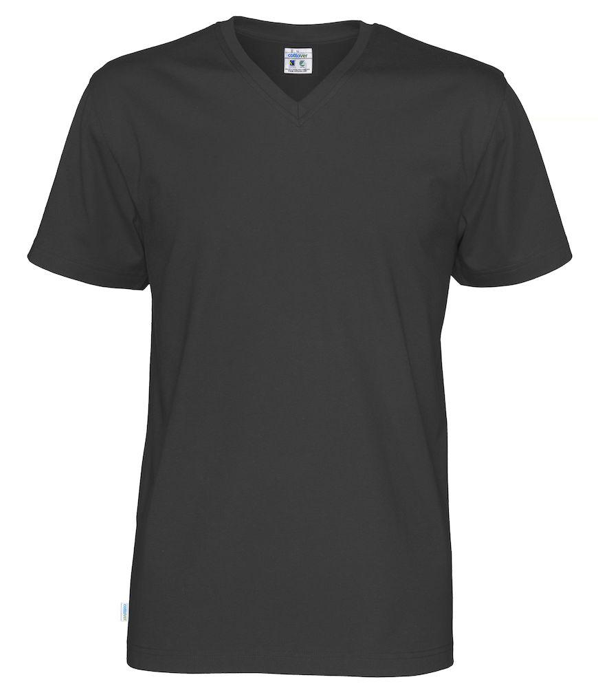 T-Shirt V-Neck Man svart