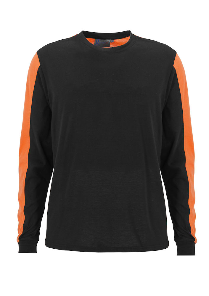 T-shirt Messina L/S Svart/orange