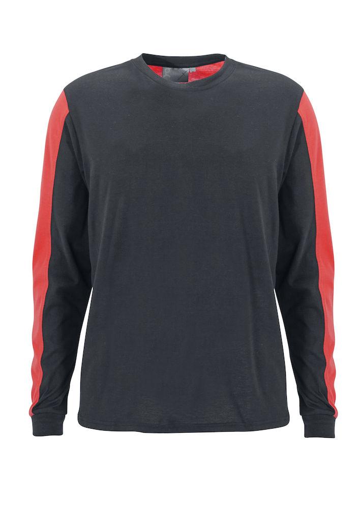 T-shirt Messina L/S Grå/Röd