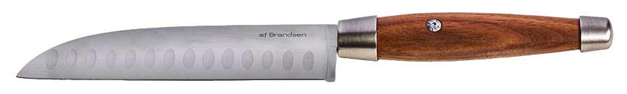 Kockkniv af Brandsen valnöt/stål
