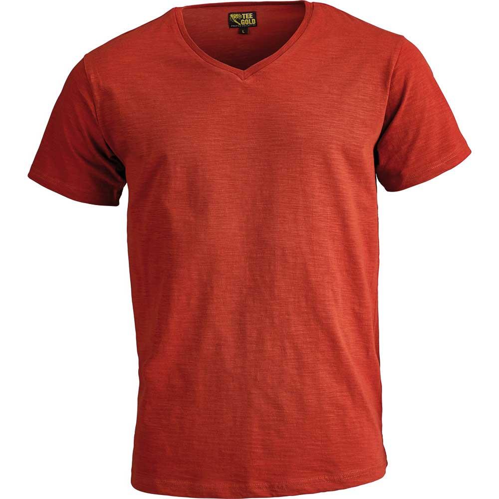 V-ringad T-Shirt Verona Chilli red
