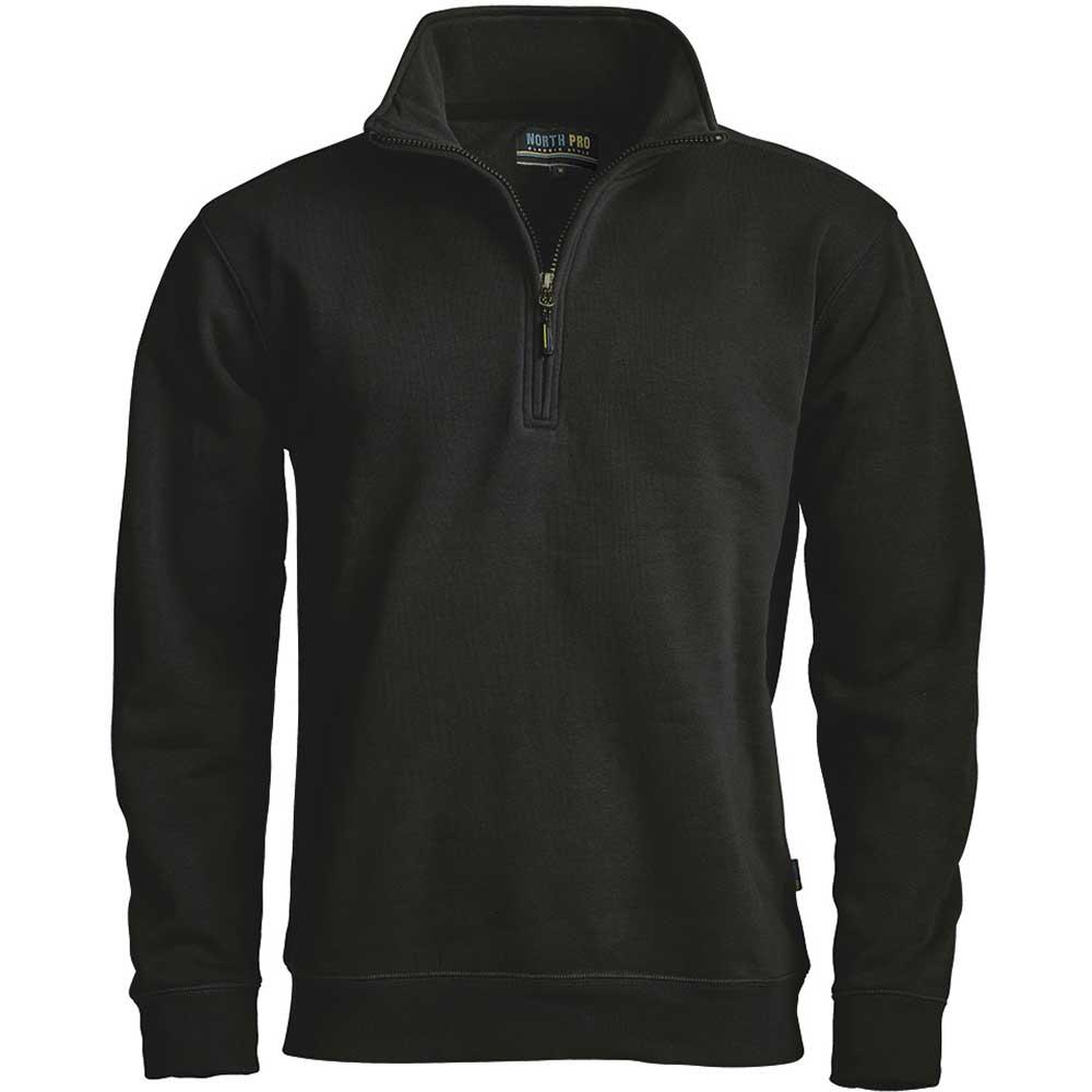 North Pro Zip sweatshirt  Svart