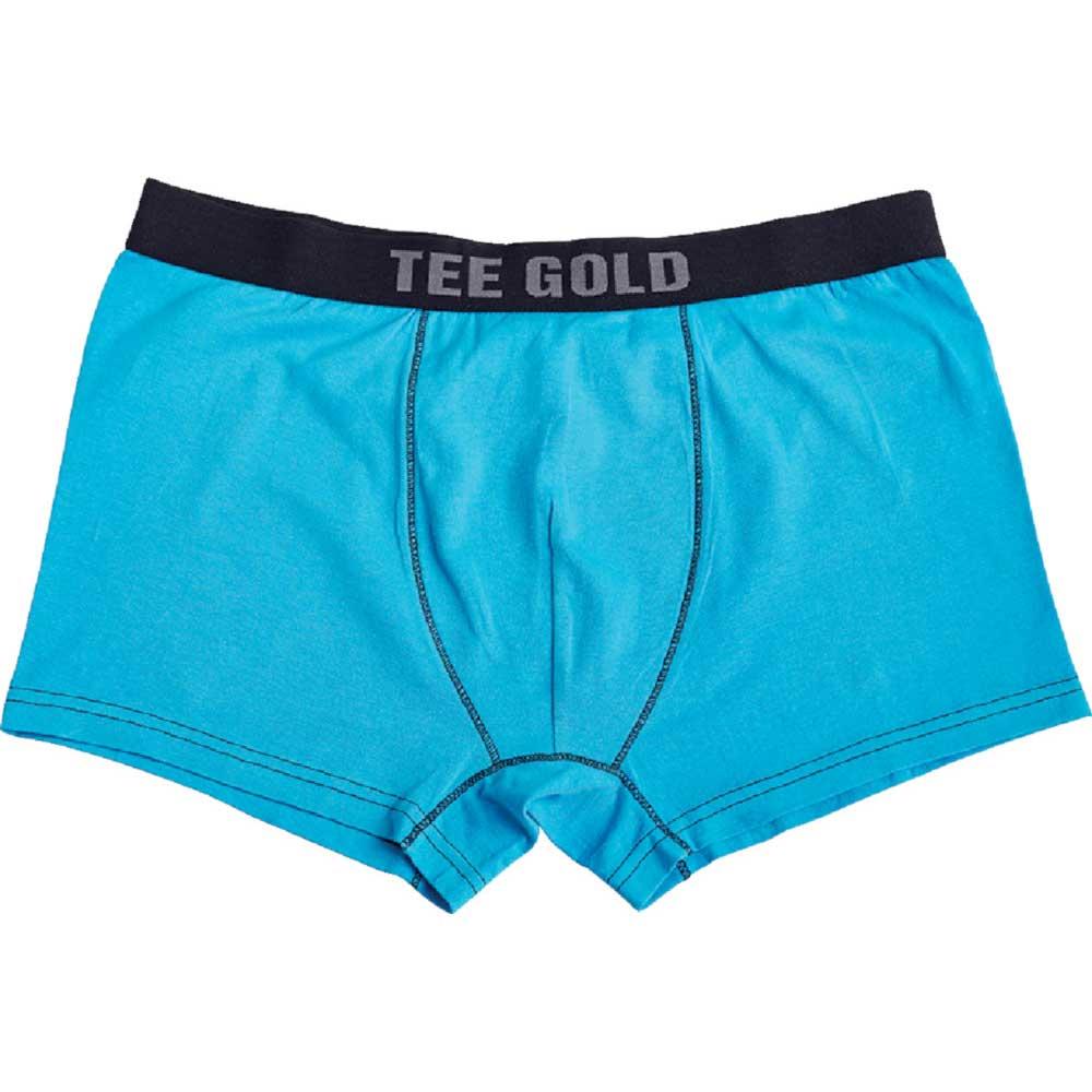 Boxershorts Tee Gold Oceanblå