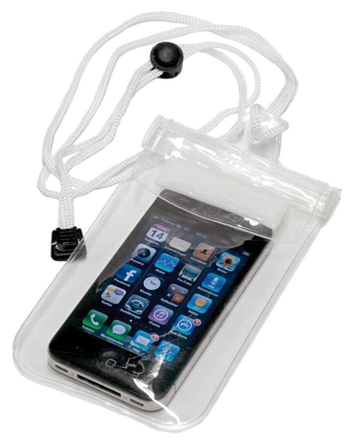 Vattentät mobilficka Ofärgad